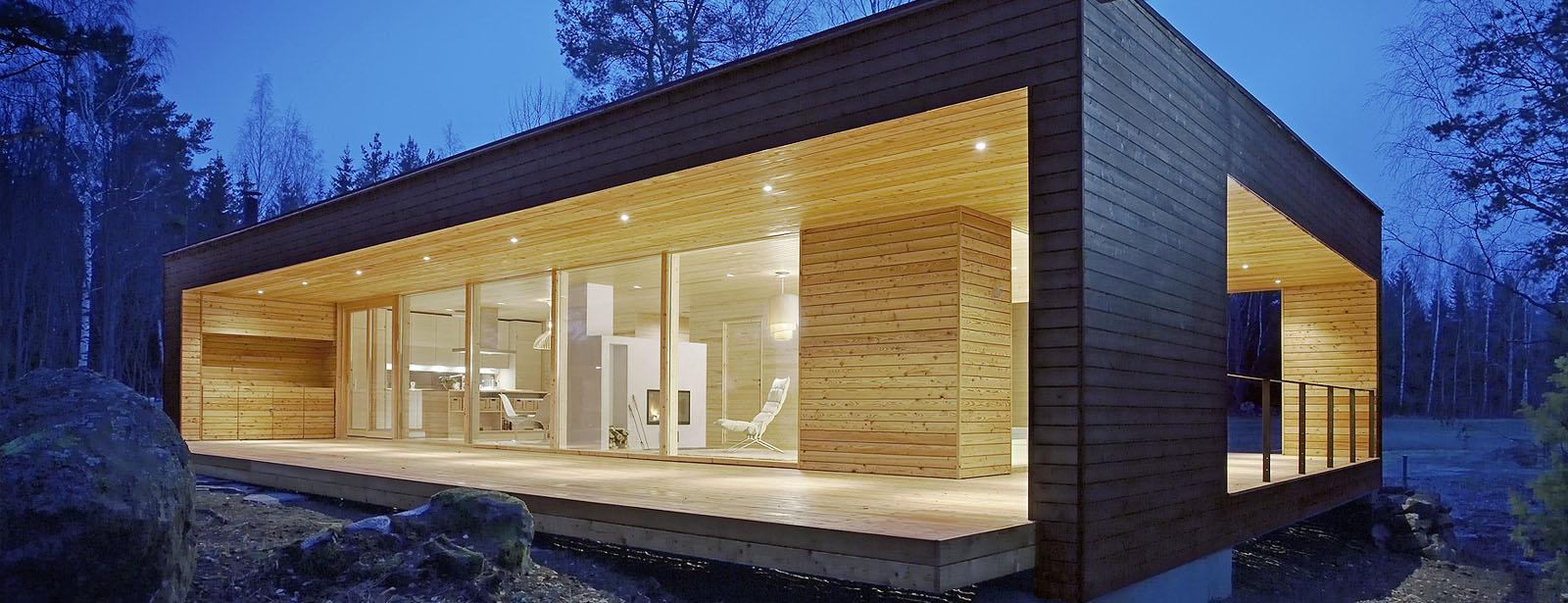 Moderne t mmerhus og trehus polar life haus - Casa prefabricada moderna ...